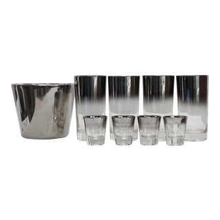 Ombre Silver Fade Cocktail Set - Set of 4