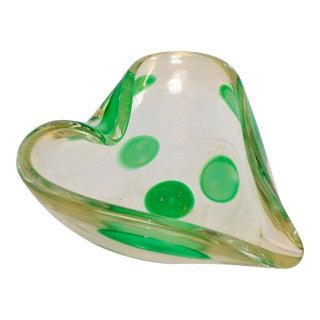 Heart Shaped Murano Glass Dish