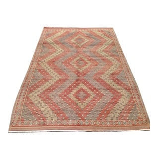 Vintage Turkish Kilim Rug - 5′5″ × 8′1″