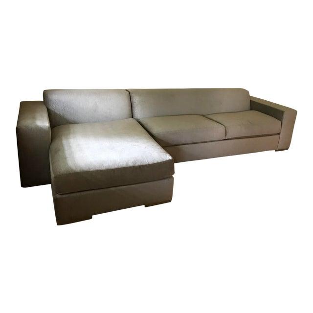 Silver Kravet Custom Sofa - Image 1 of 5