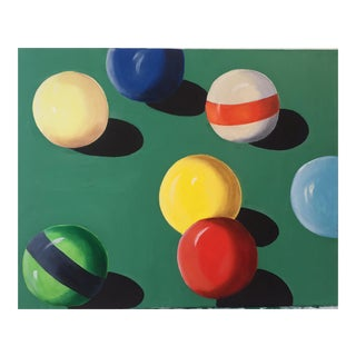 Original Cue Ball Painting