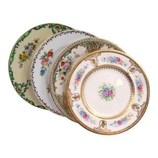 Vintage Mismatched Fine China Bread Plates - Set of 4