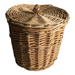 Vintage Wicker Lidded Container