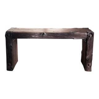Japanese Yakisugi Bench Side Coffee Table 36""