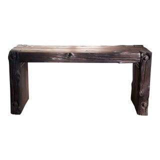 Japanese Yakisugi Bench Side Table