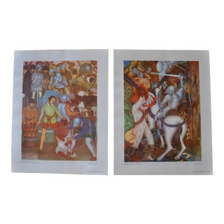 1948 Original Diego Rivera Prints - a Pair