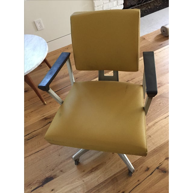 Vintage Yellow Office Chair - Image 7 of 7