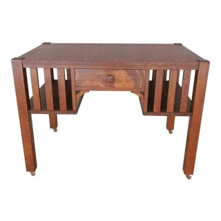 Antique Mission Oak Library Desk