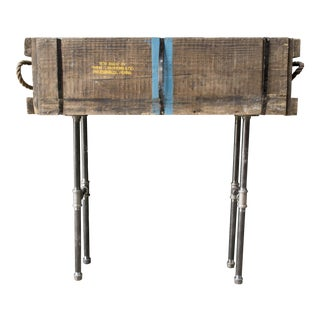 WWII Reclaimed Wooden Console Table