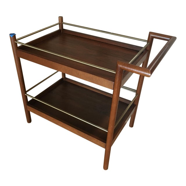 west elm mid century bar cart chairish. Black Bedroom Furniture Sets. Home Design Ideas