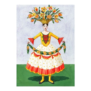 """Flower Lady With Garland"" Giclée Print"