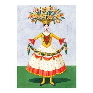 """Flower Lady With Garland"" Giclée Print"