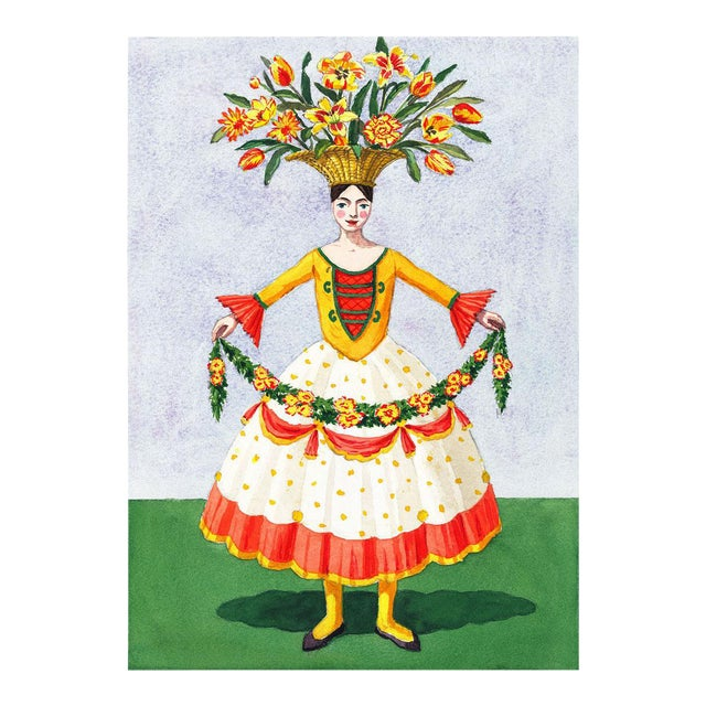 """""""Flower Lady With Garland"""" Giclée Print - Image 1 of 3"""