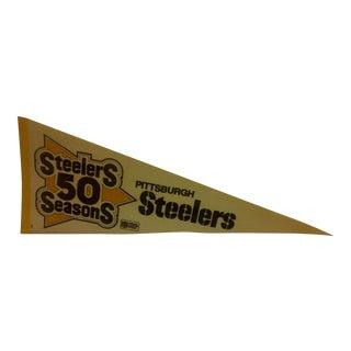 "Vintage NFL ""Steelers 50 Seasons"" Team Pennant 1982"