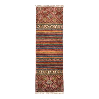 Traditional Striped Tribal Design Runner Rug - 2′7″ × 8′