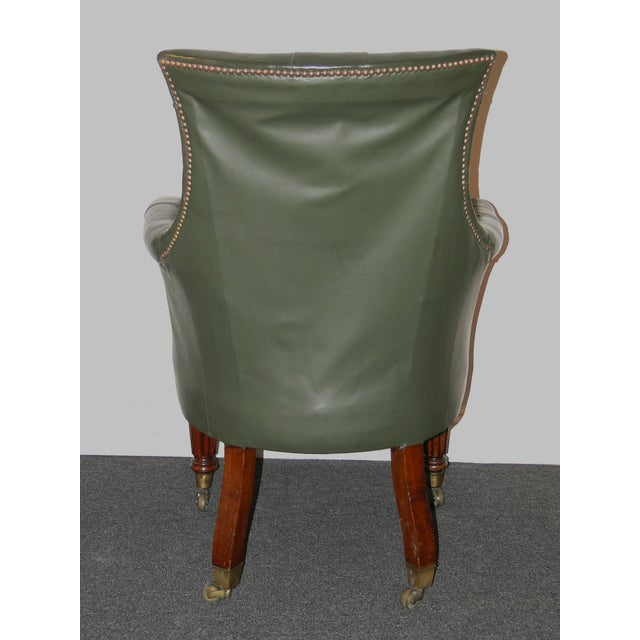 Image of Regency Leather & Mahogany Library Chair C.1825