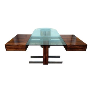 Vladimir Kagan Rosewood & Chrome Desk