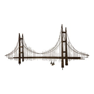 Curtis Jere Golden Gate Bridge Wall Sculpture