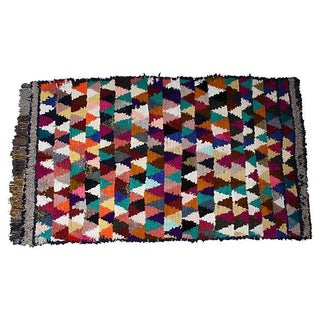 Colorful Moroccan Wool Rug - 8' X 4'8''