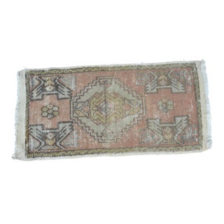 Turkish Anatolian Oushak Carpet - 1′7″ × 3′2″