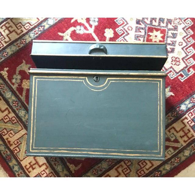 Large English Metal Strong Box - Image 9 of 11
