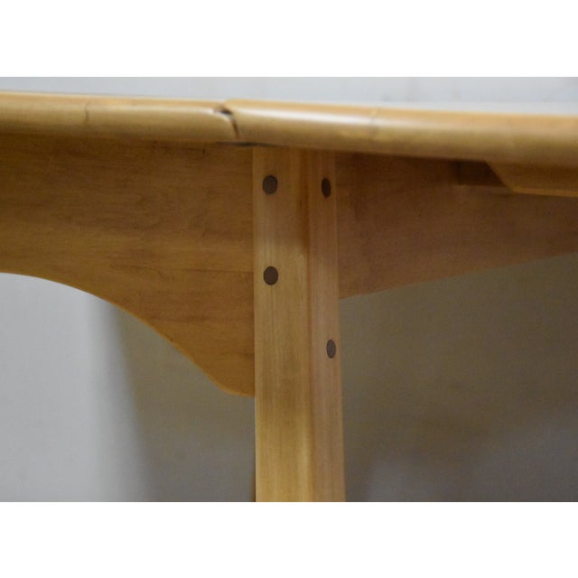 Mid-Century Maple Drop Leaf Dining Table - Image 9 of 11