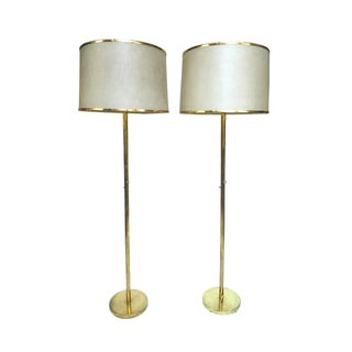 20th Century Brass Floor Lamps - A Pair
