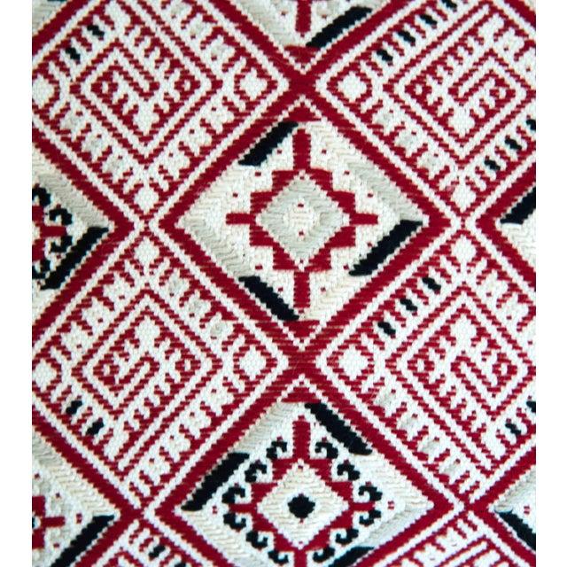 Red Diamond Handwoven Guatemalan Pillow - Image 4 of 4
