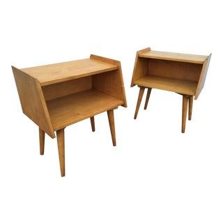 Crawford Furniture Mid-Century Maple nightstands
