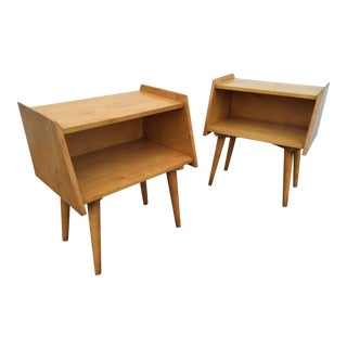 Crawford Furniture Mid-Century Maple nightstands