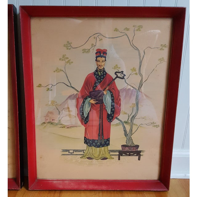 Vintage Chinois Prints - Pair - Image 3 of 4