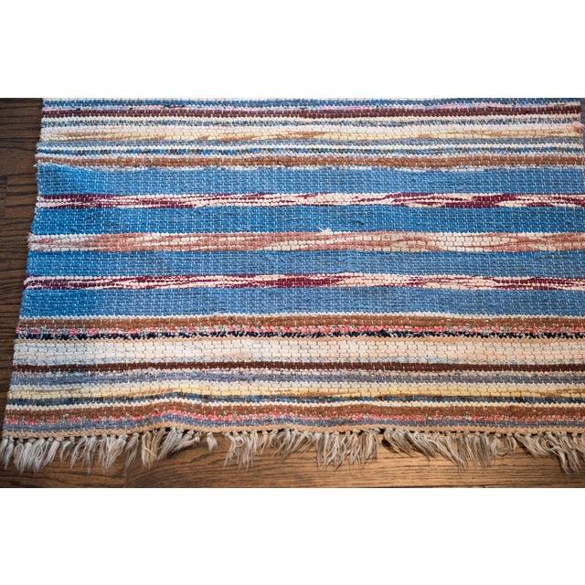 "Vintage Scandinavian Handmade Rug - 2'2"" x 9'3"" - Image 3 of 9"