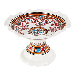 Moroccan Handpainted Ceramic Coupe Plate