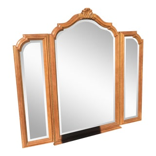 Scalloped Wood Wall Mirror