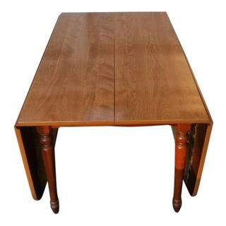 Vintage Ethan Allen Wood Veneer Drop Leaf Table