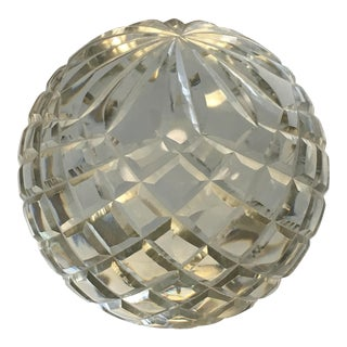Vintage Cut Crystal Paper Weight