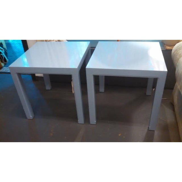 Image of Parsons Style End Tables - A Pair