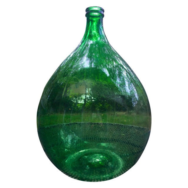 Vintage Italian Green Glass 54 Liter Demijohn - Image 1 of 7