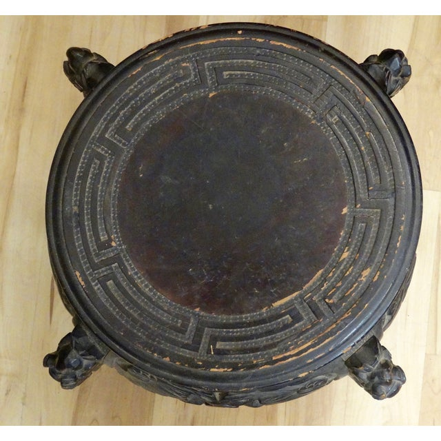 Chinese Hand-Carved Accent Table - Image 4 of 4