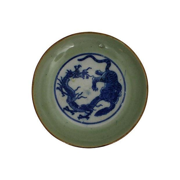 Early 19th-C. Celadon Dishes, S/3 - Image 3 of 5