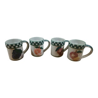 Ceramic Fruit Variety Coffee Mugs - Set of 4