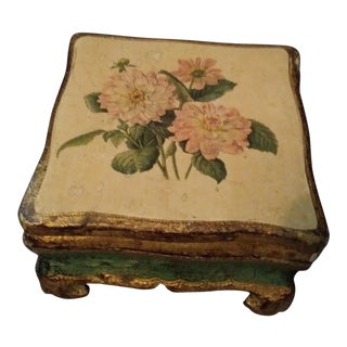 Vintage Florentine Decorative Lidded Box