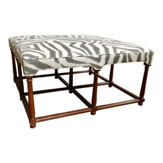 Hickory Chair Zebra Ottoman