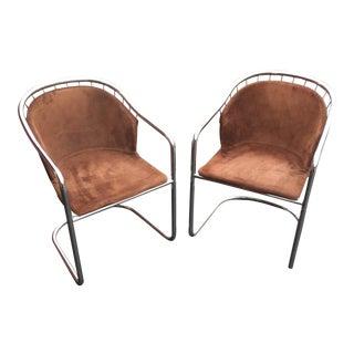 Gastone Rinaldi Vintage Chrome Cantilever Chairs - A Pair