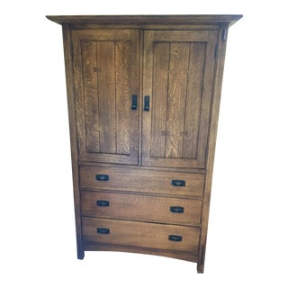 Stickley Armoire Cabinet and Drawers