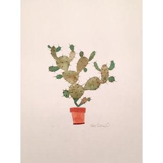 Fall Cactus Watercolor Painting