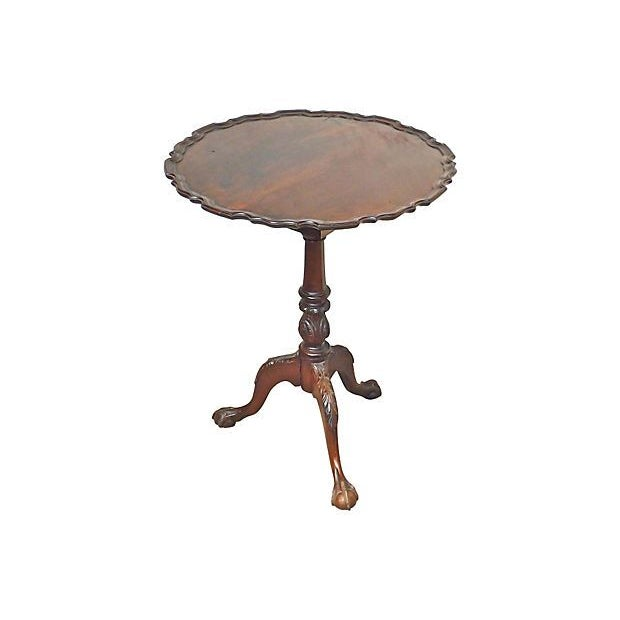 Th century wooden lazy susan pie crust tea table chairish