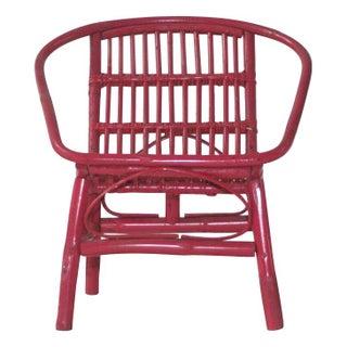 Laguna Rattan Arm Chair in Red