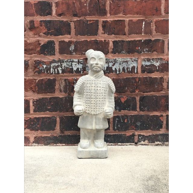 Vintage Large Chinoiserie Warrior Statue - Image 2 of 4