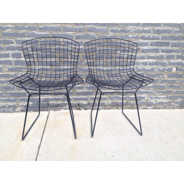 Harry Bertoia Black Side Chairs - Pair - Image 2 of 7